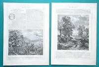 JOHN CONSTABLE British Artist - 1856 Biography Article + Illustrations