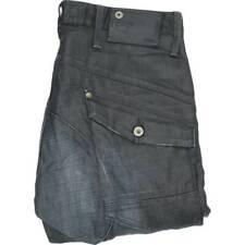 G-Star Scuba Waxed Coated Men Blue Tapered Regular Jeans W33 L30 (48100)