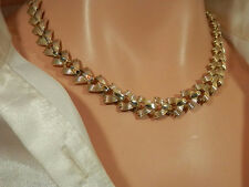 Signed STAR Vintage 1950's Gold Tone Necklace-Beautiful  414n