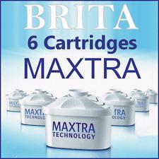 Maxtra + X6 Brita Replacement Water Cartridges Britta Jug Filters - 6 Singles