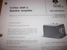 Collins 356F-3 Speaker Amp  Service manual