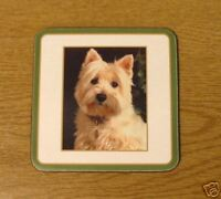 West Highland Terrier Dog Drinks Coaster Westie Gift Christmas Stocking Filler