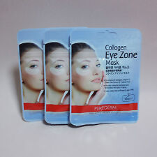 Purederm Collagen Eye Zone Mask Dark Circles White 45 Pairs (3 Pack 90 Sheet)