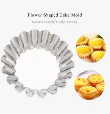 6pcs DIY Stainless Steel Egg Tart Cupcake Tin Pan Cake Mold Baking Tool Party