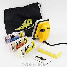Toko NF Wax Kit | Iron Base Brush Plexi Scraper Ski Tuning Shop Gear Tools