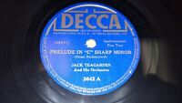 """JACK TEAGARDEN Prelude In C Sharp Minor/ Blues To The Lonely 10"""" 78 Decca 3642"""