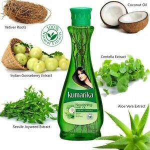 Herbal Hair Oil Kumarika Natural Ayurvedic Mix Herbs Hair Fall Control 100%