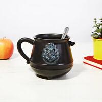 Harry Potter Hogwarts Crest Cup Black Sculpted Cauldron Tea Coffee 3D Mug