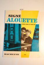 EL1 Livret Signé Alouette - Ed Hachette -
