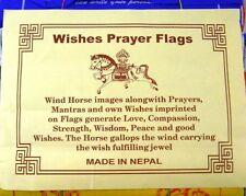 Good Wishes Cotton Prayer Flags,Spiritual,Love,Peace,Strength -10 Flags 24 x 20