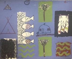 Peter PINSON 1234 Sky Blue - Original Signed Screenprint, Charming Abstract Art
