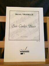 Michel Trudelle San Carles Blues partition pour 4 flûtes éditions Notissimo