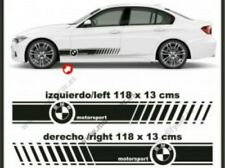 SET 2 Pegatinas sticker BMW Performance motorsport lineas laterales 118 x 13 cm