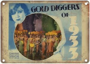 """Gold Diggers of 1933 Cinema Lobby Card 10"""" X 7"""" Reproduction Metal Sign I149"""