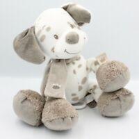 Doudou musical chien blanc beige Max Noa et Tom NATTOU - Chien-Loup-Renard Sonor