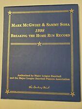 "New listing Danbury Mint Mark McGwire and Sammy Sosa 1998 ""Breaking the Home Run Record"" 23k"