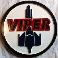 Battlestar Galactica Viper 3D routed bar pub prop sci fi sign plaque Custom New