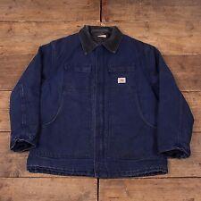 """Da Uomo Vintage CARHARTT Quilt Giacca Foderato Workwear delle faccende domestiche Blu XXL 52"""" r5142"""