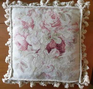 "Aubusson Needlepoint Cushion 16""x16"" by Chelsea Textiles"