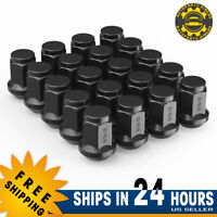 20PC 9/16-18 BLACK BULGE ACORN LUG NUTS 1.38'' for DODGE RAM 1500 DURANGO RAIDER