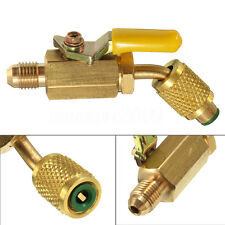 R410a R134a Brass Shut Valve For A/C Charging Hoses HVAC 1/4'' AC Refrigerant