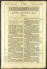 "1611 KING JAMES BIBLE LEAF ""he"" 1613/11 ""she"" ""she"" reprints 1617, 1634, 1640/39"
