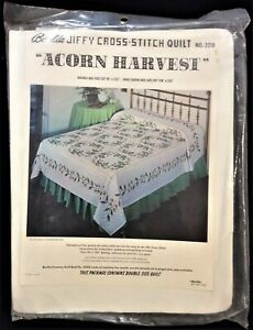 "Unopened Bucilla Quilt Kit # 3218 ""Acorn Harvest"" Cross Stitch"