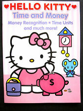 HELLO KITTY Time And Money Recognition Activity Book Brand New