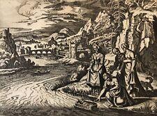 Moïse sauvé des eaux Jacob Matham après Hendrick Goltzius 1606 -1652 Israël