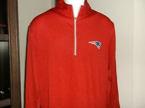 New England Patriots 1/4 Zip Pullover Men's XL Free Ship new with tags