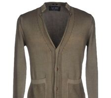 Armani Jeans Cardigan Size XL Military Green Brand New With Tags Men's