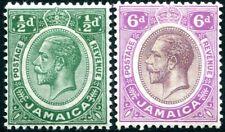 JAMAICA-1921-27 Mult Script Pair Sg 92-93 MOUNTED MINT V28718