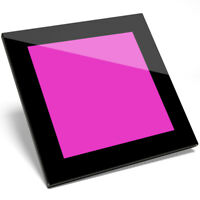 1 x Awesome Pretty Pink Color Glass Coaster - Kitchen Student Gift #13178