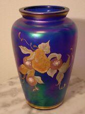 Fenton QVC Limited Edition 100th Anniversary Blue Favrene Art Glass Vase Signed