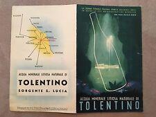 DEPLIANT,VINTAGE,1938,acqua minerale litiosa naturale TOLENTINO SORGENTE S.LUCIA