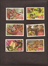 A & BC GUM CARDS BATMAN No's 23A, 24A, 25A, 26A, 27A, 28A 1966 ISSUE