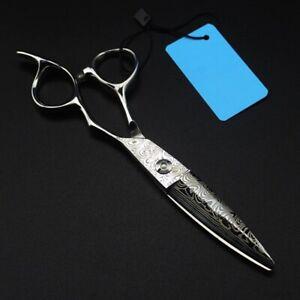 Professional Hair Cutting Scissors Japan Damascus steel 6 inc Salon Hairdressing