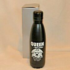 Nib Queen & Adam Lambert Vip Concert Metal Water Bottle Souvenir Black 2017 Swag