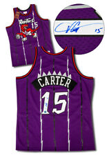 Vince Carter Toronto Raptors Autographed Retro Mitchell & Ness Basketball Jersey