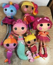 LALALOOPSY Lot of 6 Dolls 4 Full Size 2 Littles All Fully Dressed D