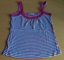 WOMENS RED AND WHITE STRIPED TOP SIZE 8