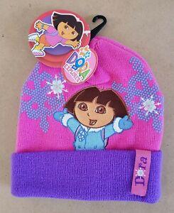 Nickelodeon Jr. Dora The Explorer – Dora Kids/Girls Beanie Hat Size 1-6 NWT