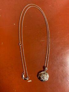 "10k Rose Gold Diamond Locket with chain  16.25-18.25""  5.4 Gr."