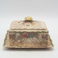 Vintage James Kent Longton Windsor Pattern Butter Dish Gold Trim Made in England