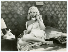 British Blonde Bombshell Diana Dors Original 1953 Boudoir Pin-Up Photograph