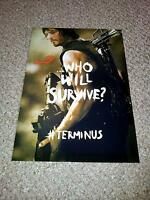 """THE WALKING DEAD PP SIGNED 12""""X8"""" POSTER NORMAN REEDUS DARYL TERMINUS SEASON S5"""