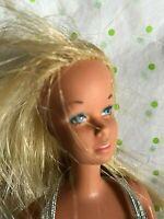 CLEARANCE ALL ACTION DOLLS - 1966 BARBIE-STRAIGHT HAIR-TWIST N TURN-BLUE EYES