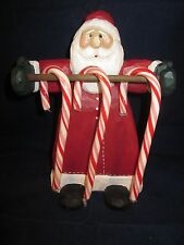 Eddie Walker Santa Candy Cane Holder by Midwest Of Cannon Falls ~ Excellent