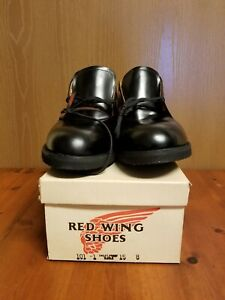 VTG Red Wing Heritage 101-1 Postman Oxford Black Leather Sweat Proof Shoes 15 B