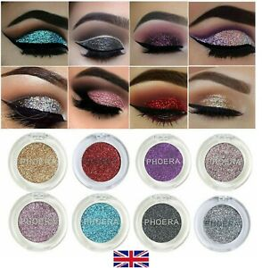 PHOERA GLITTER EYESHADOW PALETTE COLOR PIGMENT SHIMMER EYE SHADOW SPARKLY MAKEUP